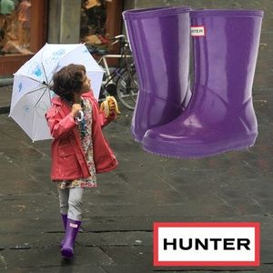 Hunter Kids First Classic Glitter Star Rain Boot